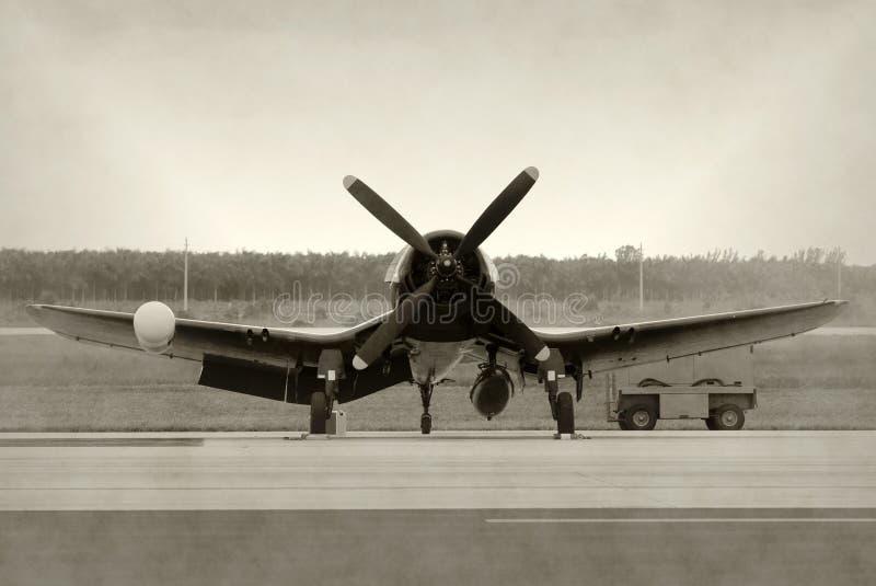 Aeroplano viejo del propulsor imagenes de archivo