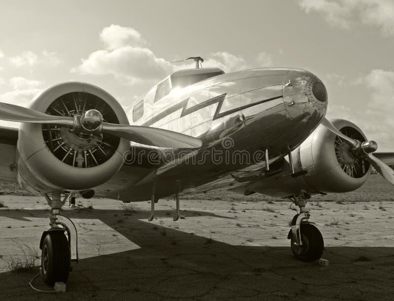 Aeroplano viejo del propulsor fotografía de archivo