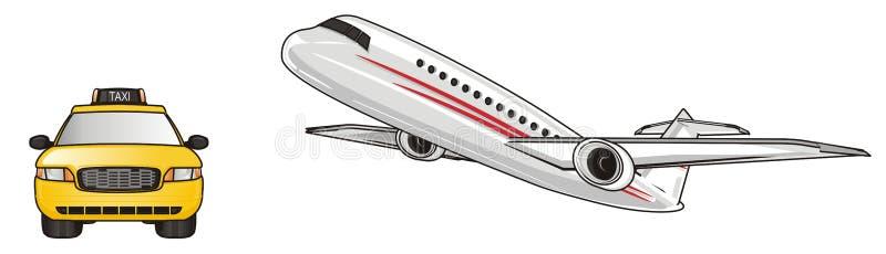 Aeroplano y coche libre illustration