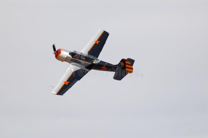 Aeroplano YAK-52 fotografia stock