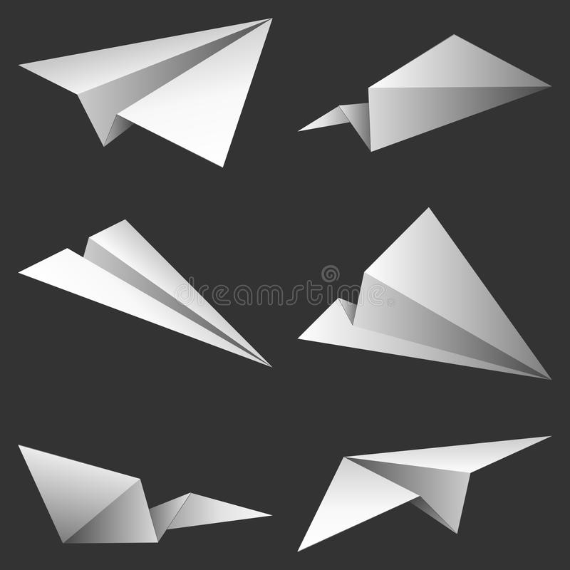 Aeroplanos de papel. libre illustration