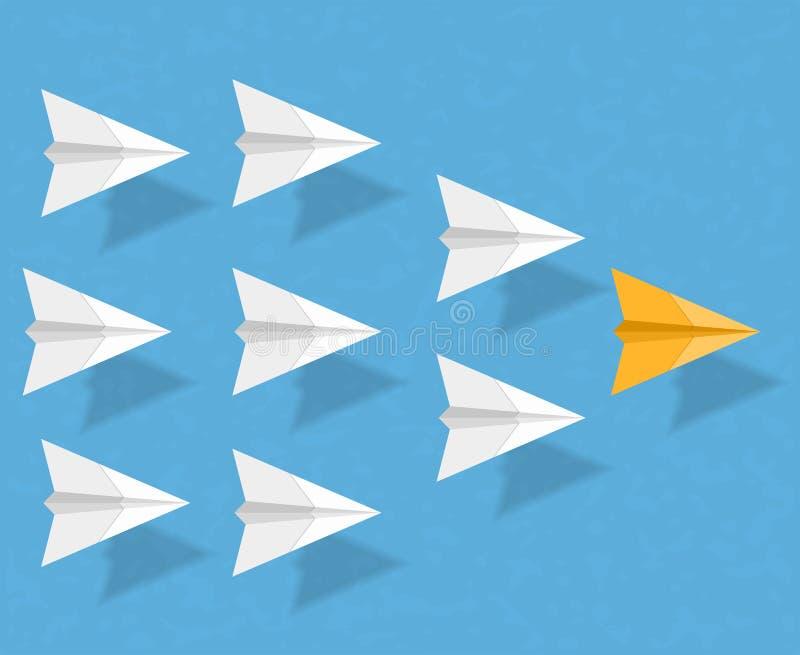 Aeroplanos de papel stock de ilustración