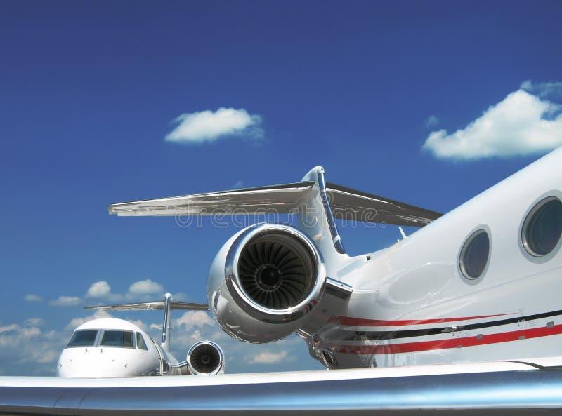 Aeroplanos del jet imagen de archivo