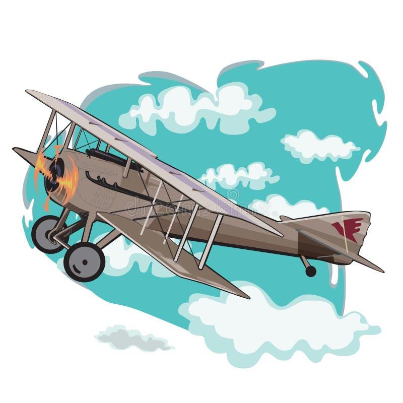 Aeroplanos modelo viejos ilustración del vector