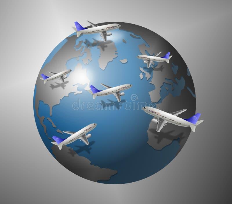 Aeroplanos y mundo libre illustration