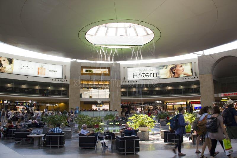 Aeroport internacional em Israel Ben Gurion imagem de stock royalty free