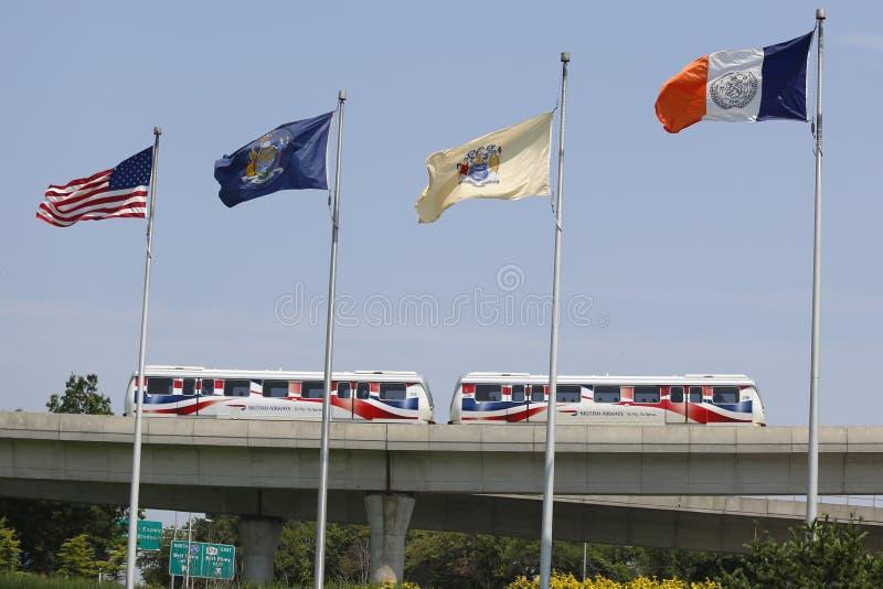 Aeroporto AirTrain de JFK em New York imagem de stock royalty free