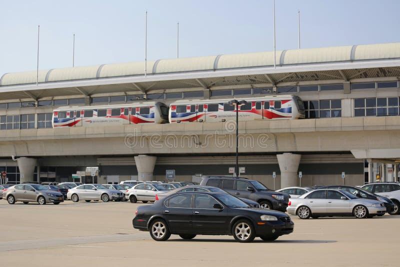 Aeroporto AirTrain de JFK em New York imagens de stock