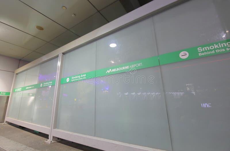 Aeroporto Australia di Melbourne della stanza di fumo immagine stock