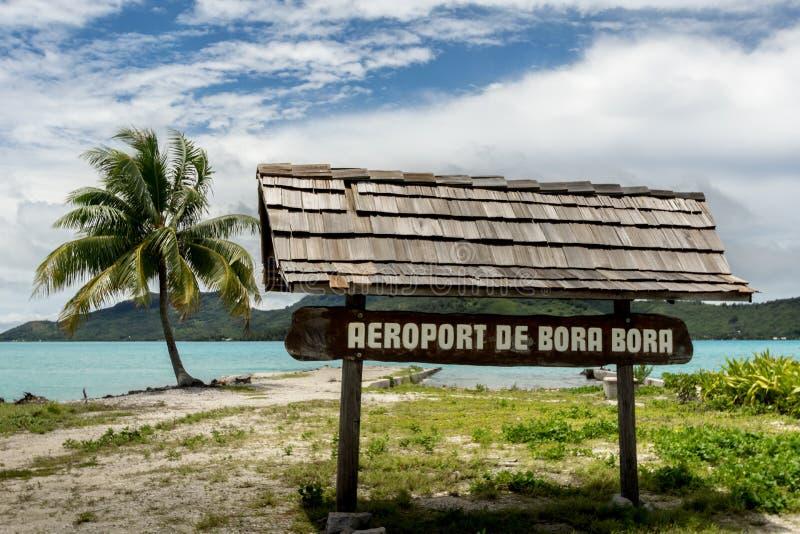 Aeroporto Bora Bora French Polynesia fotografia de stock royalty free
