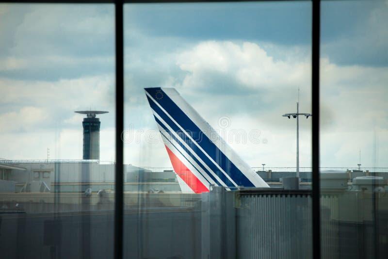 Aeroporto Charles de Gaulle - Paris fotos de stock