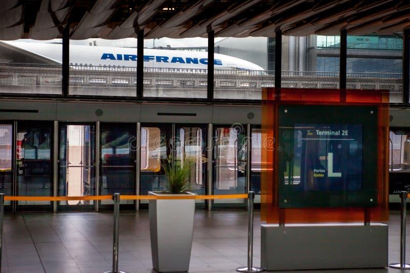 Aeroporto Charles de Gaulle - Paris imagens de stock royalty free