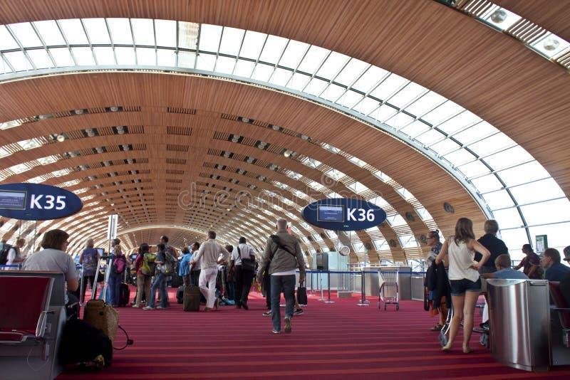 aeroporto Charles de Gaulle, Paris imagem de stock