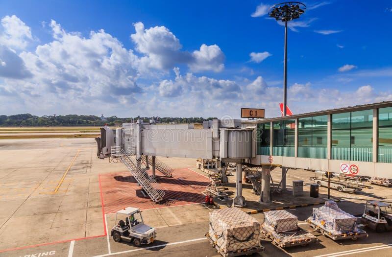 Aeroporto da pista de decolagem fotos de stock