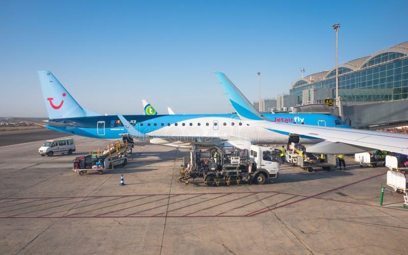 Aeroporto de Alicante, Espanha imagem de stock royalty free