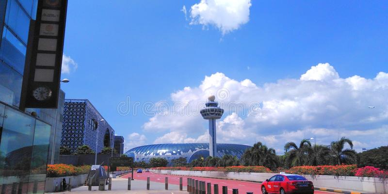 Aeroporto de Changi da joia, Singapura fotos de stock royalty free