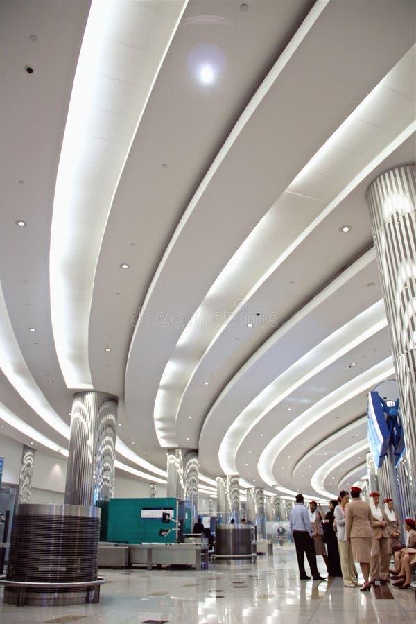 Aeroporto de Dubai fotografia de stock