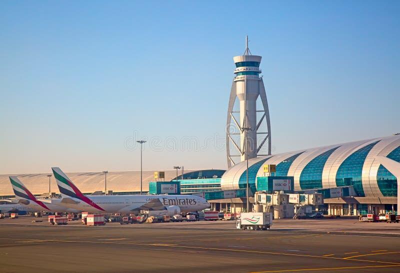 Aeroporto de Dubai fotografia de stock royalty free