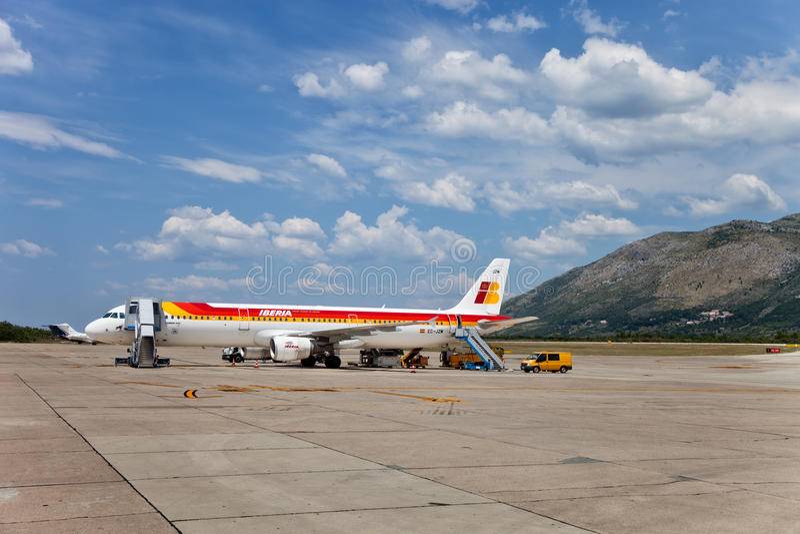 Aeroporto de Dubrovnik imagens de stock royalty free