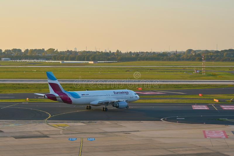 Aeroporto de Dusseldorf imagens de stock