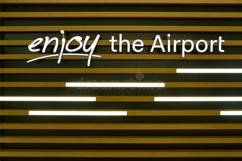 Aeroporto de Dusseldorf fotos de stock royalty free