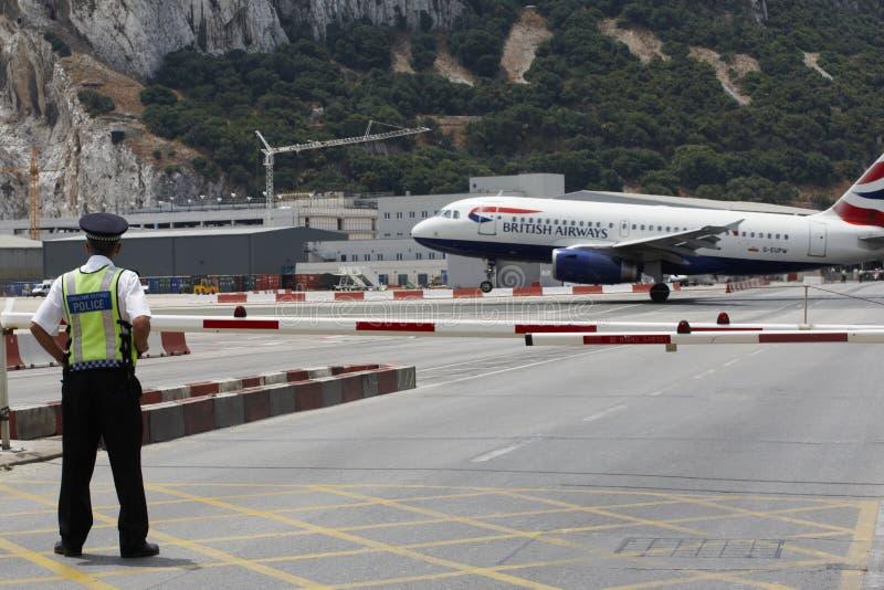 Aeroporto de Gibraltar fotografia de stock