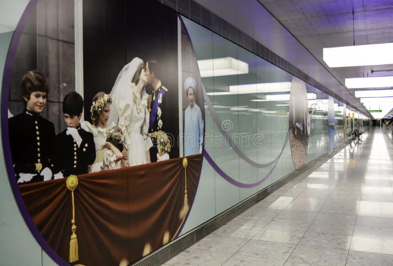 Aeroporto de Heathrow - terminal 5 imagens de stock