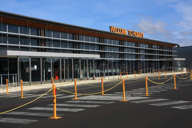 Aeroporto de Hobart em Tasmânia imagens de stock