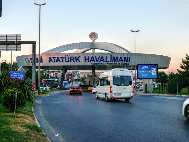 Aeroporto de Istambul Ataturk, Turquia imagem de stock