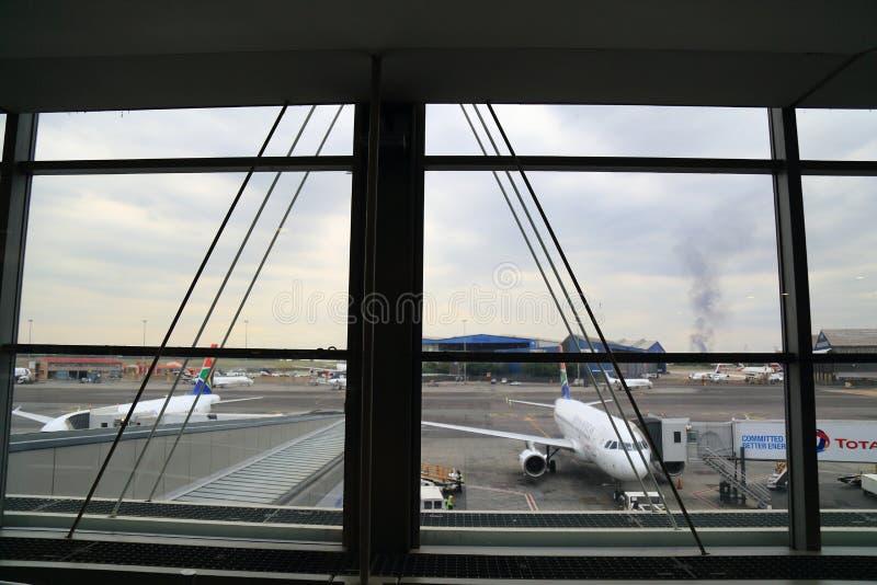 Aeroporto de Joanesburgo, África do Sul fotografia de stock