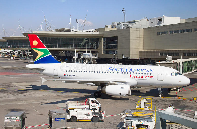 Aeroporto de Joanesburgo Tambo fotos de stock royalty free