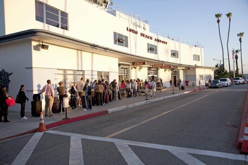 Aeroporto de Long Beach foto de stock
