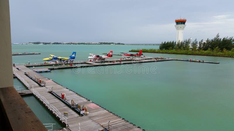 Aeroporto de Maldivas imagens de stock