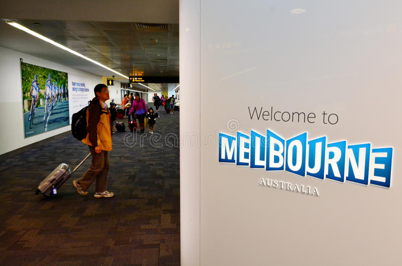 Aeroporto de Melbourne - Tullamarine Airpor imagem de stock