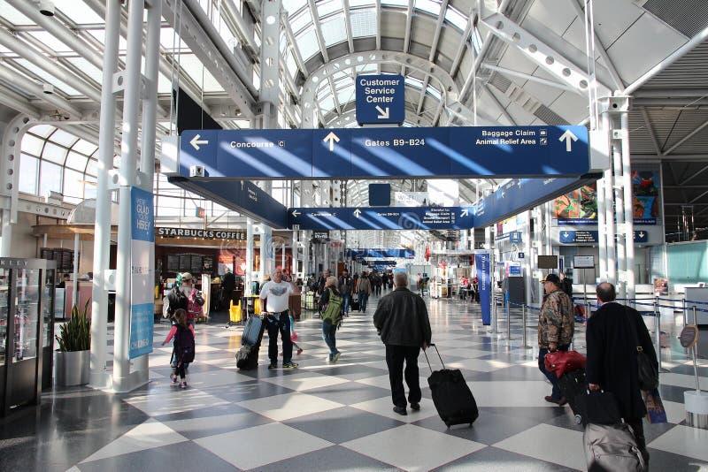 Aeroporto de O'Hare fotos de stock royalty free