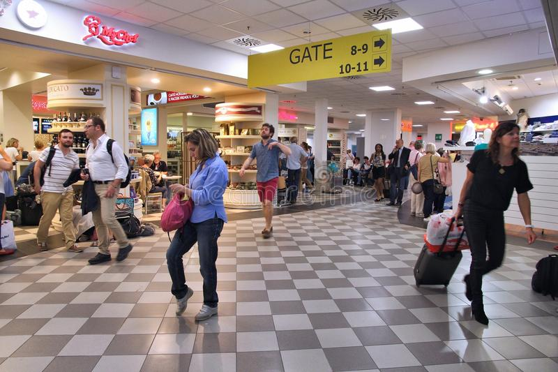 Aeroporto de Pisa imagem de stock