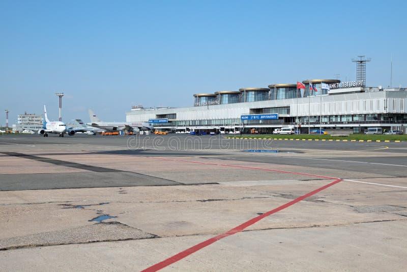 Aeroporto de Pulkovo imagens de stock