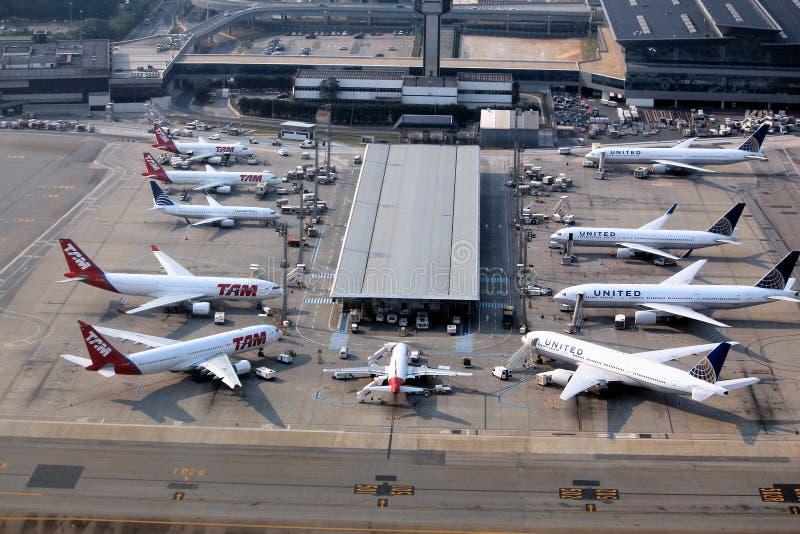 Aeroporto de Sao Paulo imagem de stock