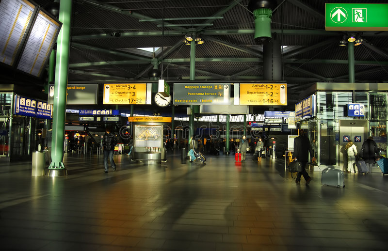 Aeroporto de Schiphol fotografia de stock royalty free