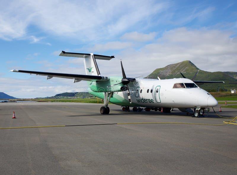 Aeroporto de Skagen, Noruega imagens de stock