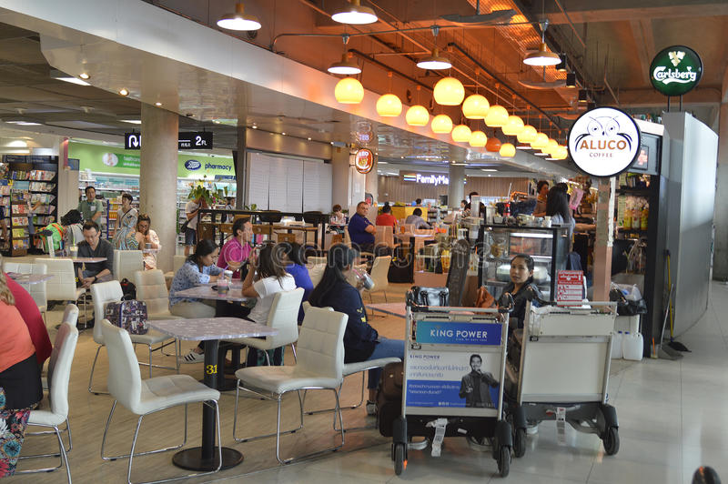 Aeroporto de Suvarnabhumi do areaof do ponto dos mundos primeiro imagens de stock royalty free