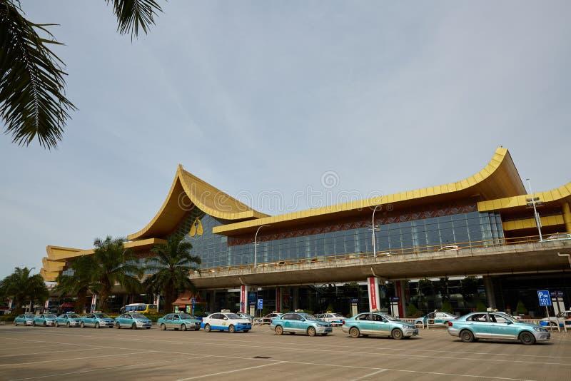 Aeroporto de Xishuangbanna, Yunnan, China imagens de stock royalty free
