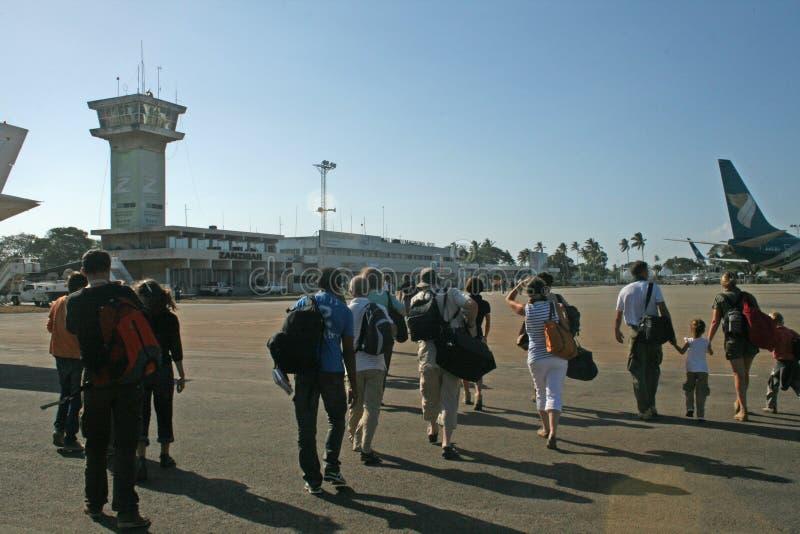 Aeroporto de Zanzibar imagem de stock royalty free