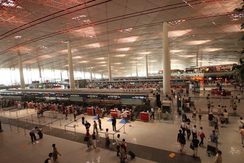 Aeroporto del capitale di Pechino. Terminale 3 (T3) fotografia stock