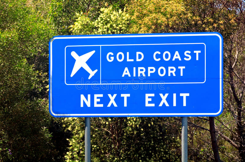 Aeroporto della Gold Coast nel Queensland Australia fotografia stock libera da diritti