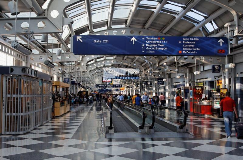 Aeroporto delle lepri del Chicago O fotografia stock libera da diritti