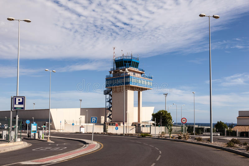 Aeroporto di Almeria, Spagna immagine stock libera da diritti