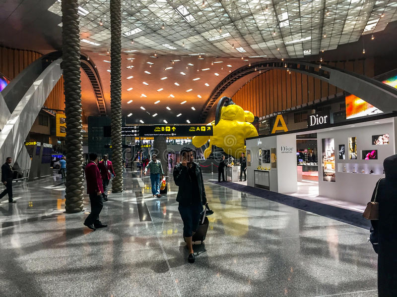 Aeroporto di Doha Hamad immagine stock