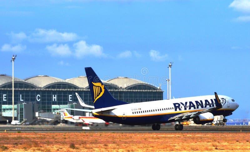 Aeroporto di EL Altet immagini stock libere da diritti