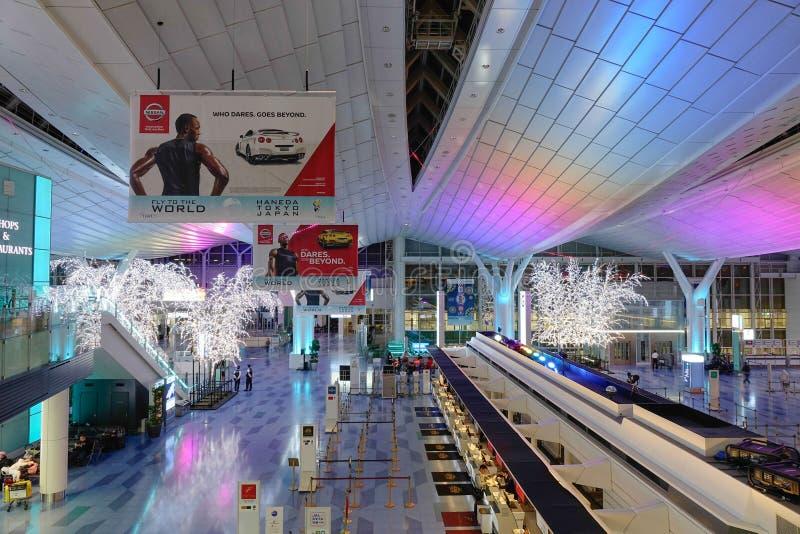 Aeroporto di Haneda, Giappone - aeroporto internazionale di Tokyo immagine stock